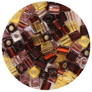 SB4-M1 Miyuki square beads - bronze mix