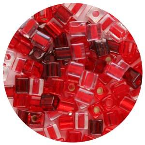 SB4-M5 Miyuki square beads - reds mix