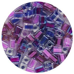 SB4-M6 Miyuki square beads - purples mix