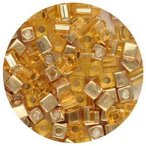 SB4-M7 Miyuki square beads - golds mix