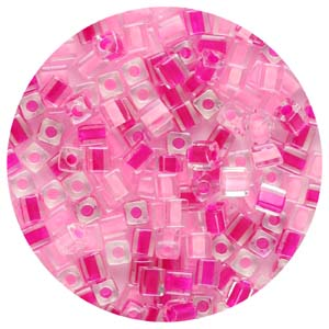SB4-M8 Miyuki square beads - pinks mix