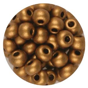 SB6-112 Czech size 6 seed beads - copper metallic