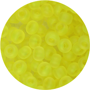 SB6-123 Czech size 6 seed beads, semi-matt - neon yellow