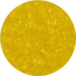 SB6-132 Czech size 6 seed beads, transparent - citrine