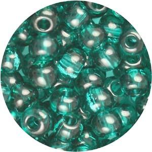 SB6-133 Czech size 6 seed beads, transparent - blue zircon