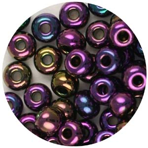 SB6-22 Czech size 6 seed beads, metallic - purple iris