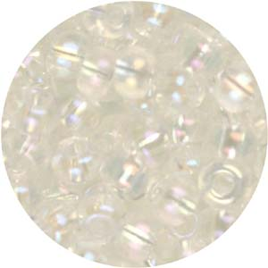 SB6-25 Czech size 6 seed beads - crystal AB