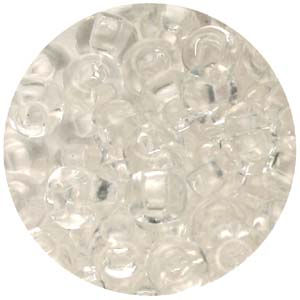 SB6-26 Czech size 6 seed beads, transparent - crystal