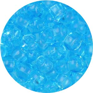 SB6-63 Czech size 6 seed beads, transparent - aquamarine