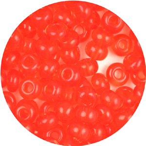 SB6-59 Czech size 6 seed beads - transparent orange