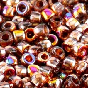 SBP8-239 Matubo Czech size 8 seed beads - crystal sliperit