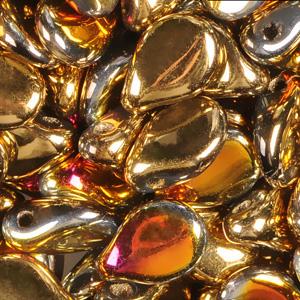 SBPIP-222 Czech pip pressed beads - crystal california sun