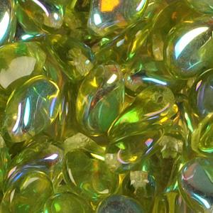 SBPIP-55AB Czech pip pressed beads - transparent olivine AB