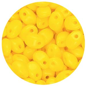SBSP-141 Czech solo pressed beads, opaque - yellow