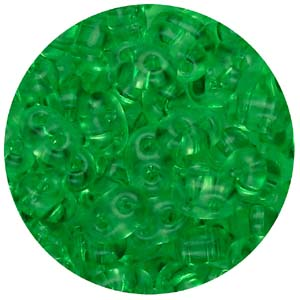 SBT-147T Czech twin seed beads, crystal solgel dyed - light green