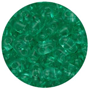 SBT-148T Czech twin seed beads, crystal solgel dyed - green turquoise
