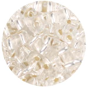 SBT-1 Czech twin seed beads - crystal silver lined