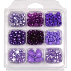 SBX-PY5 Pony Bead Selection Box - purples