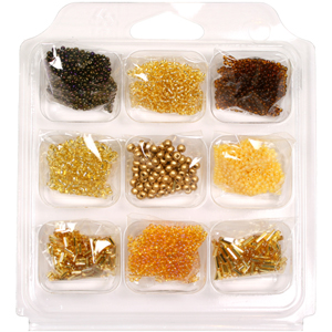 SBX-SB3 Seed Bead Selection Box - bronze/gold