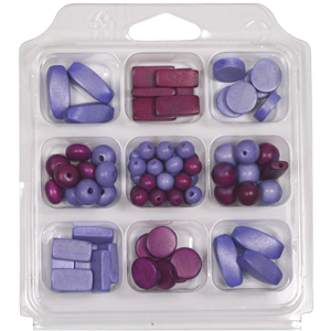 SBX-WB2 Wooden Bead Selection Box - Purples