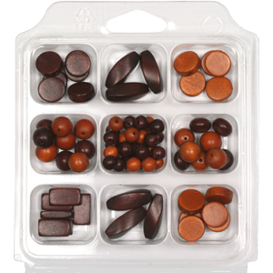 SBX-WB5 Wooden Bead Selection Box - Caramel