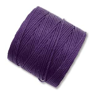 S294-PUR S-Lon Bead Cord - Purple