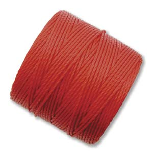 S294-RED S-Lon Bead Cord - Shanghai red