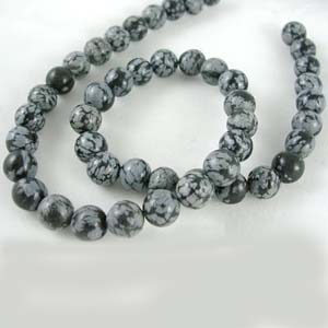 SP-SN5 - Snowflake Obsidian Round