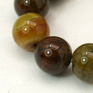 SP-AGDRBR06 Natural Agate Beads, Dragon Veins Beads, Round