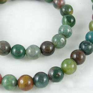 SP-AGIR06 natural Indian agate beads, round