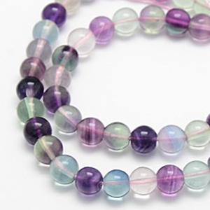 SP-FLR08 Natural fluorite beads, round