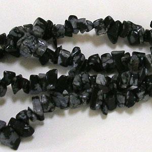SP-SNC Snowflake Obsidian Round Beads
