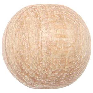 WB4 - round wooden bead