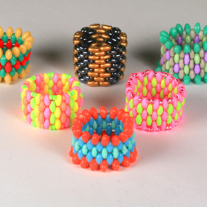 WS58-AUG1 NEW Woven Seed Bead Rings: Saturday 2 August 10 30 am - 12 30 pm