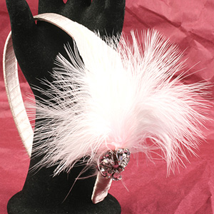 WS75-FEB1 NEW Alice Band with Fascinator: Saturday 21 February 10 30 am - 12 30 pm