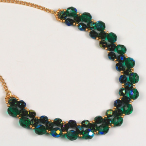 WS80-MAY1 NEW Right Angle Weave Necklace: Tuesday 19 May 10 30 am - 12 30 pm
