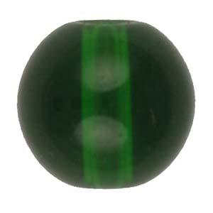 GB242Tround pressed transparent glass beads