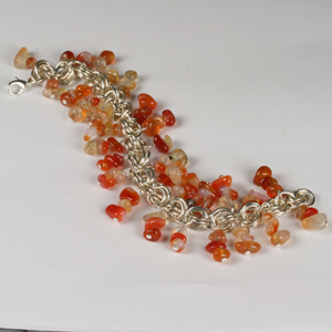 Kit 123B Chain Maille & Semi-Precious Bracelet & Earrings