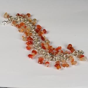 Kit 123B Chain Maille & Semi-Precious Bracelet & Earrings
