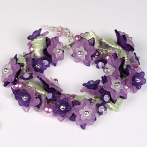 Kit 159 Floral Bracelet & Earrings