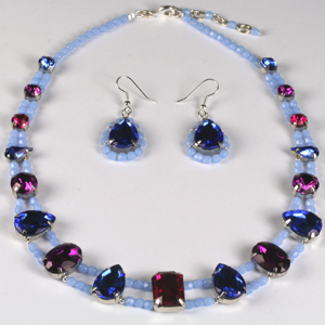 kit 176 Kit 176 Multi-colour Fancy Stones & Fire-polished Necklace & Earrings