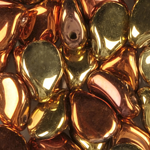 SBPIP-206 Czech pip pressed beads - crystal california gold rush