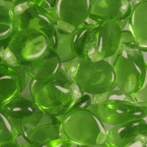 SBPIP-76 Czech pip pressed beads - transparent green