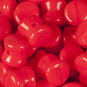 SBPLT-143 Czech pellet pressed beads - opaque red