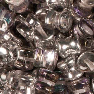 SBPLT-202 Czech pellet pressed beads - crystal vitrail light