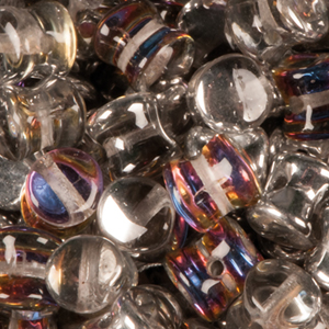 SBPLT-208 Czech pellet pressed beads - crystal volcano
