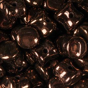 SBPLT-250 Czech pellet pressed beads - jet vega fully coated