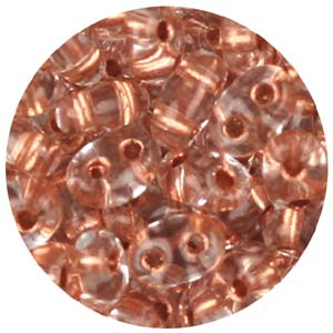 SBT-105&nbsp;Czech twin seed beads - copper lined