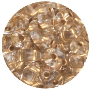 SBT-107 Czech twin seed beads - bronze lined