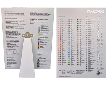 Super Category SWAROVSKI Crystal Colour Charts & Misc